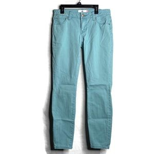 Cabi Womens 4 Skinny Pants Aqua Blue Ankle